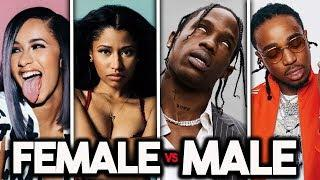 FEMALE RAPPERS VS MALE RAPPERS! ????