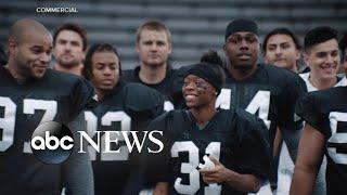 Female football player who was offered a full scholarship speaks on 'GMA'