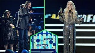 Carrie Underwood wins Best Female Music video as Blake Shelton earns top honor at CMT Music Awards