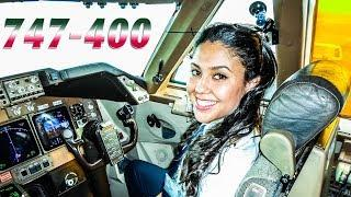 Khadija Pilots BOEING 747 out of Casablanca