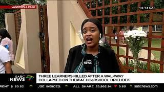 Hoërskool Driehoek walkway collapse declared a crime scene