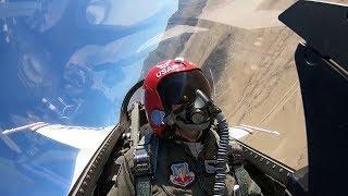 "Female Thunderbird Pilot ""Mace"" • In-flight Cockpit Video"