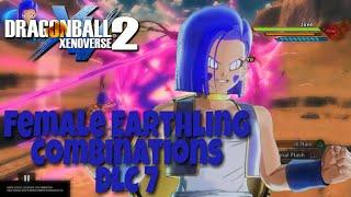 Dragon Ball Xenoverse 2 - DLC 7 Combos | Female Earthling Ki Blasts