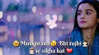 Humsafar - whatsapp status female version // romantic sad song // whatsap status video // status