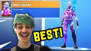 "NINJA REACTS TO NEW ""FEMALE GALAXY"" SKIN! (GALACTIC)"