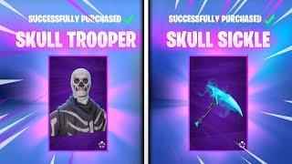 Skull Trooper IS BACK With Female! - Fortnite - Full Trooper Set (RARE Fortnite Skins)