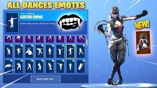 *NEW* ARACHNE (Female Vampire) SKIN SHOWCASE WITH ALL DANCES/EMOTES! Fortnite Battle Royale
