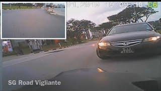 19jan2019 #SJJ4745L honda accord rider nearly been taken out by female driver
