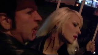 Sunset Society - Vampire drains female blood