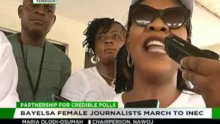 Bayelsa female journalists march to INEC