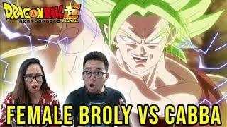 Dragon Ball Super English Dub Episode 93 FEMALE BROLY VS CABBA REACTION & REVIEW