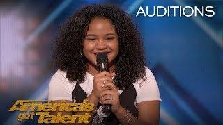 Amanda Mena: The 15-Year-Old Earns Golden Buzzer From Mel B - America's Got Talent 2018