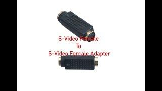 S-Video Female to S-Video Female Adapter P#2510