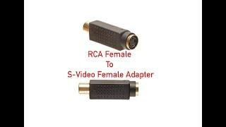RCA Female to S-Video Female Adapter P#2511