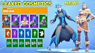 *NEW* Fortnite LEAKED Skins, Emotes & NEW Cosmetics! (Secret Skin, Female Ice King, Whirlwind Emote)