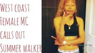 Female MC Calls Out Summer Walker #summerwalker #theycallmepyt #beef #worldstar #shade