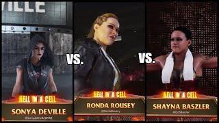 WWE2K19 Random Match Female MMA Fighters Wrestle It Out!