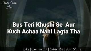 Hamare Rishtey Ki Hakikat ???????????? || Female version Sad Status video || Sad Status Line ||