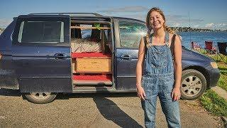 Solo Female Van Life For Uni // Stealth Minivan Camper Conversion Tour.