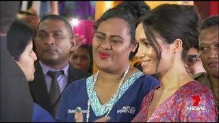 Meghan Markle Visits A Market in Fiji - Female Empowerment Speech  (2018)