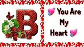 B Letter Amazing Whatsapp Status Video Song || B Word And Alphabet Female Status Video For Whatsapp