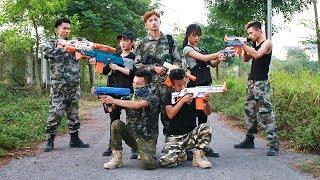 3T Nerf War : Squad Alpha Elite Female Police Nerf guns Crossfire the Bandits