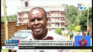 KEMU female student allegedly murdered, male student's body found hanging
