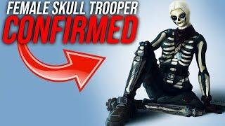 "*CONFIRMED* FEMALE SKULL TROOPER ""SKULL RANGER"" SKIN COMING TO FORTNITE!"