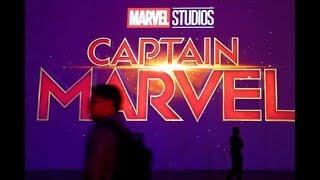 'Captain Marvel' stars roll out female-led action flick in London