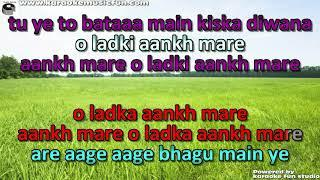 Aankh Maare O Ladki Aankh Maare Semi Vocal Female Video Karaoke Lyrics