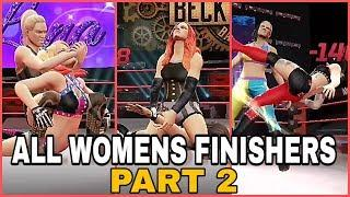 WWE MAYHEM ALL FEMALE FINISHERS PART 2