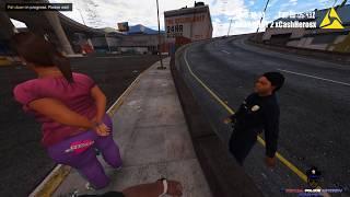 BodyCam Foot Pursuit Of A Female Brandishing A Firearm