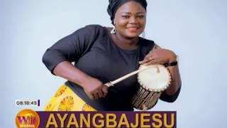 Female Drummer, Ayangbajesu Plays The Talking Drum On Wake Up Nigeria