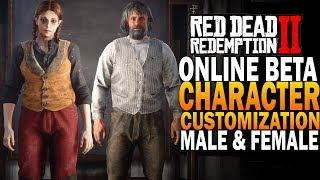 RDR2 Online Male & Female In Depth Character Creation!  Red Dead Redemption 2 Online Beta