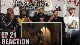 EREN VS FEMALE TITAN: ATTACK ON TITAN EP 21 REACTION/REVIEW