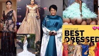 The Best Female Celebrities Dressed at AMVCA 2018 Actress Rachel,Ruth