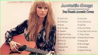 Acoustic Female Covers  - Female Acoustic Covers Of Popular Songs ( Video Acoustic Rock )