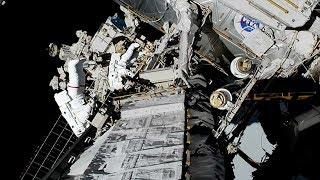 NASA astronauts conduct first all-female spacewalk