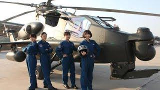 China Proud - First five female attack helicopter pilots for PLA Army ready for action