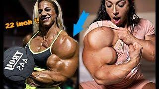 Top 5 Female Bodybuilder With MASSIVE ARMS !