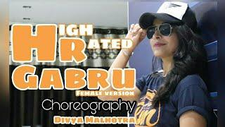 High Rated Gabru | female version | Neha Arya | Varun Dhawan| Choreography by Divya Malhotra