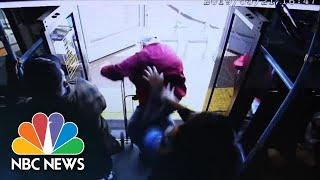Video Shows Moment Woman Pushes Elderly Man Off Las Vegas Bus | NBC News