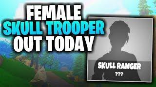 *CONFIRMED* FEMALE SKULL TROOPER IN STORE! (Skull Set Out Soon!) - Fortnite BR