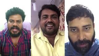 'Attakathi'Dinesh ,Kaali venkat 'Adukalam''Murugadoss inviting for the play @ coimbatore