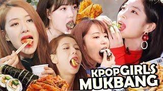 [K-POP] FEMALE IDOLS MUKBANG! (먹방) Loves to Eat! l EATING COMPILATION.