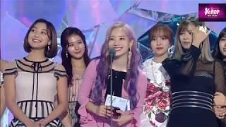 181106 TWICE Best Female Group Genie Music Awards 2018 Fancam HD