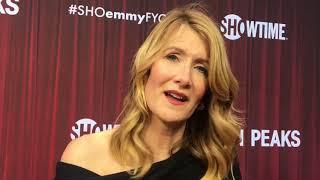 Laura Dern spills secrets of 'Twin Peaks: The Return' at Emmy FYC red carpet
