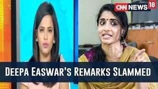 CNN-News18 Anchor Gives Befitting Reply To Deepa Easwar's Remark On Female Journalists