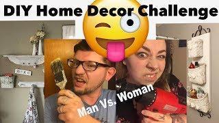 DIY Man VS Woman Home Decor Thrift Flip / Upcycled Challenge