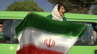 Iranian women attend historic football match